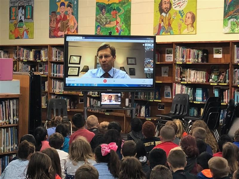 Global Read Aloud with State Superintendent