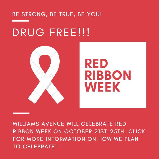 Red Ribbon Week- Be strong, be true, be you!