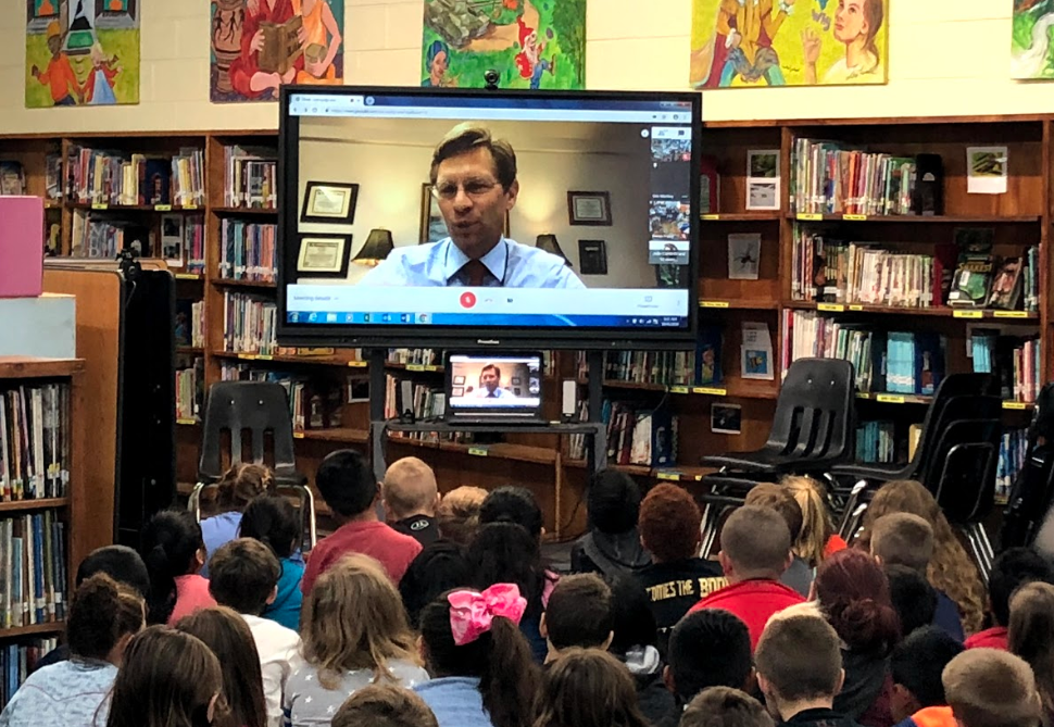 Global Read Aloud with State Superintendent Eric Mackey...Click for more images.