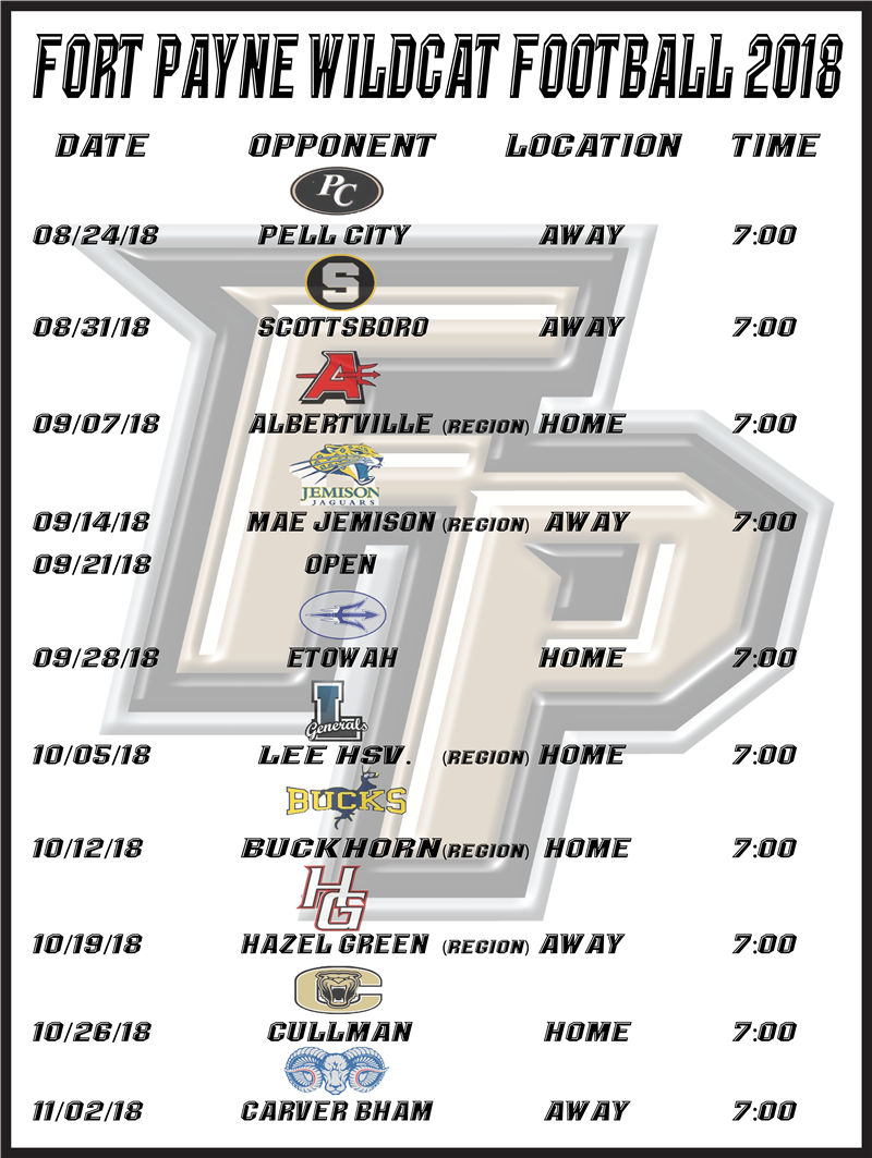 FP Football 2018 Schedule