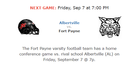 FP Home Conference Game against Albertville at Wildcat Stadium.