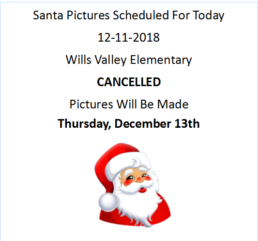 Santa Pictures Rescheduled!