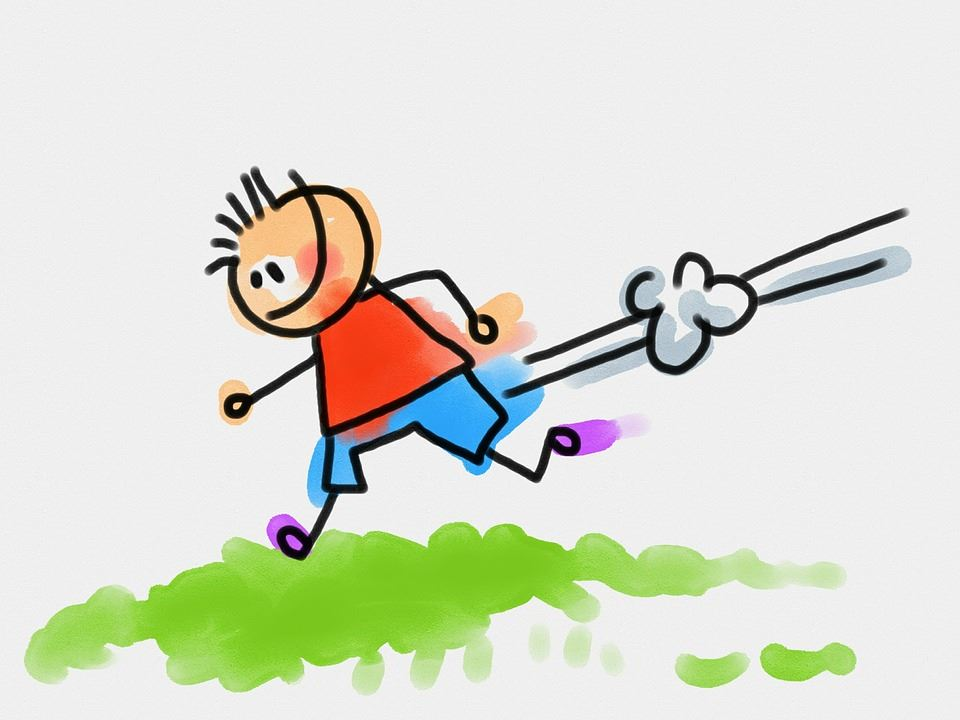 clip art of child running