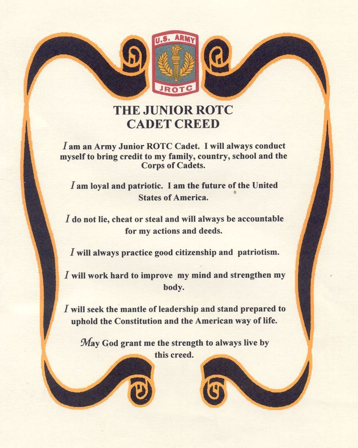 JROTC Cadet Creed