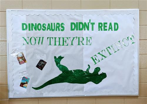 Don't be a fossil! Read a book!