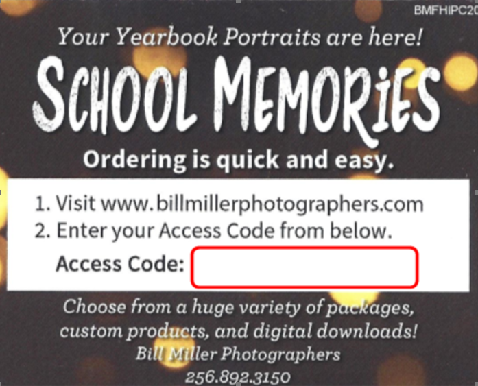 Order Bill Miller School Pictures